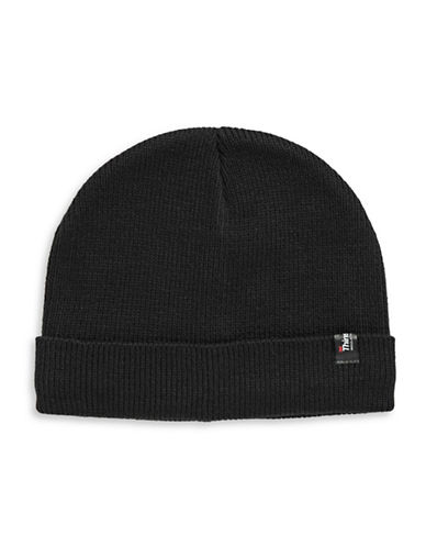 London Fog Ribbed Tuque-BLACK-One Size