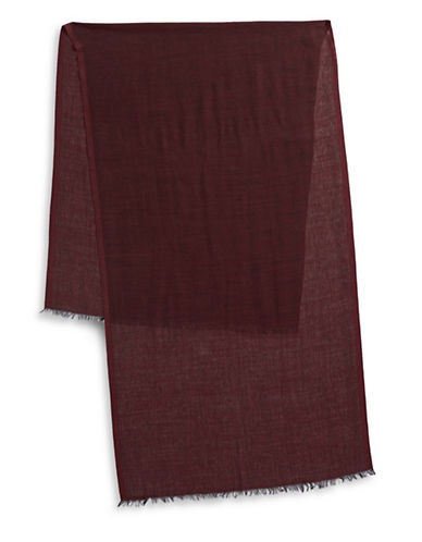 Black Brown 1826 Lightweight Scarf-RED-One Size
