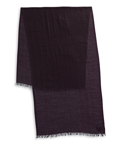 Black Brown 1826 Lightweight Wool-Blend Scarf-PURPLE-One Size