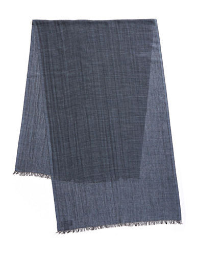 Black Brown 1826 Lightweight Scarf-BLUE-One Size
