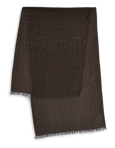 Black Brown 1826 Lightweight Wool-Blend Scarf-BLACK-One Size