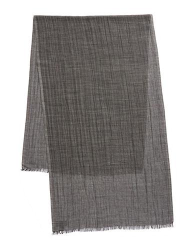 Black Brown 1826 Lightweight Wool-Blend Scarf-GREY-One Size
