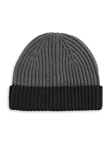 Black Brown 1826 Colourblock Cuff Tuque-GREY-One Size 89460136_GREY_One Size
