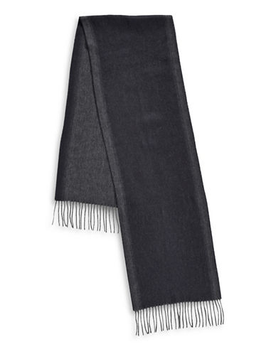 London Fog Frilled Two-Tone Scarf-NAVY-One Size
