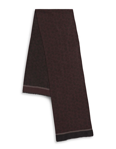London Fog Paisley Scarf-BURGUNDY-One Size
