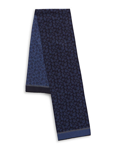 London Fog Paisley Scarf-NAVY-One Size