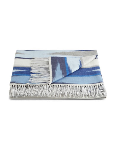 Glucksteinhome Checkered Throw-SEA BLUE-One Size