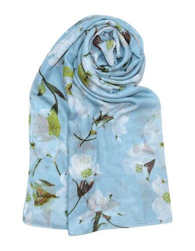 Lord & Taylor Sheer Floral Scarf 89899526