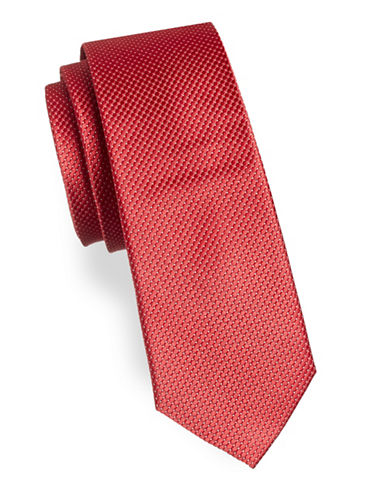 Lauren Ralph Lauren Micro Dot Silk Tie-RED-One Size