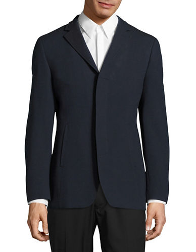 John Varvatos Star U.S.A. Pique Cotton-Blend Sports Jacket-BLUE-40 Regular