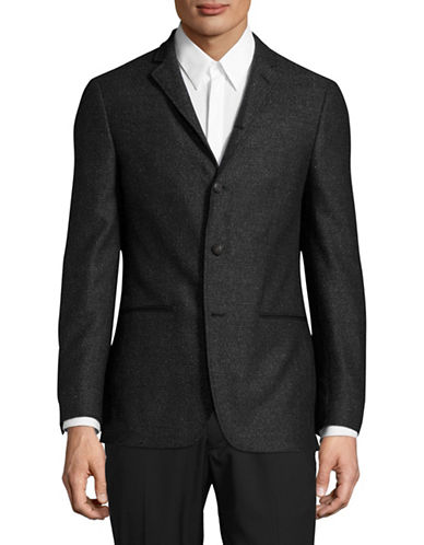 John Varvatos Star U.S.A. Luxe Slim-Fit Speckled Silk-Wool Sports Jacket-GREY-40 Tall