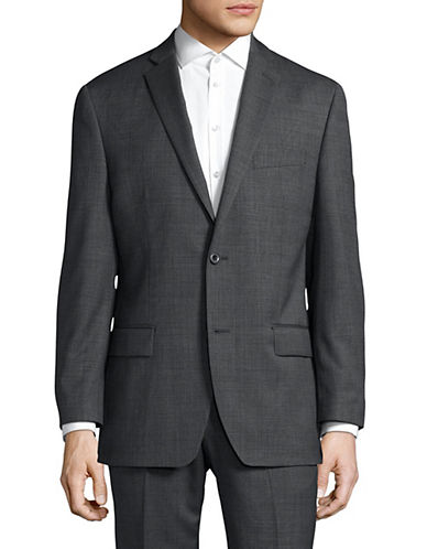 Michael Michael Kors Slim-Fit Checkered Wool Sports Jacket-GREY-36 Regular