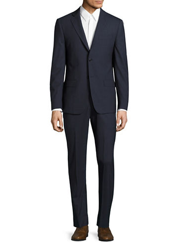 John Varvatos Star U.S.A. Slim Fit Knit Sports Jacket-NAVY-44 Tall