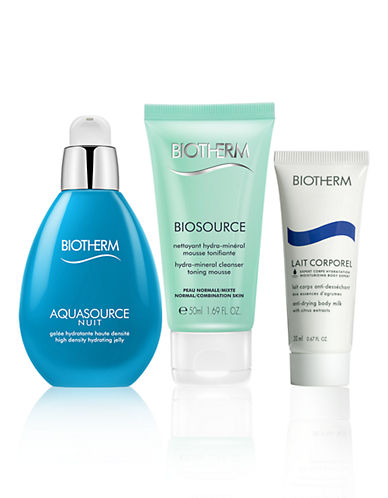 Biotherm Three-Piece Aquasource Night High-Density Hydrating Jelly Set-NO COLOUR-One Size