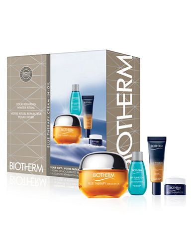 Biotherm Four-Piece Blue Therapy Cream-in-Oil Set-NO COLOR-One Size