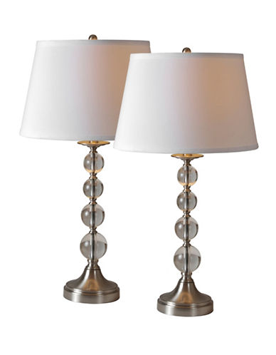 Ren-Wil Two-Piece Venezia Table Lamps Set-SATIN NICKEL-One Size