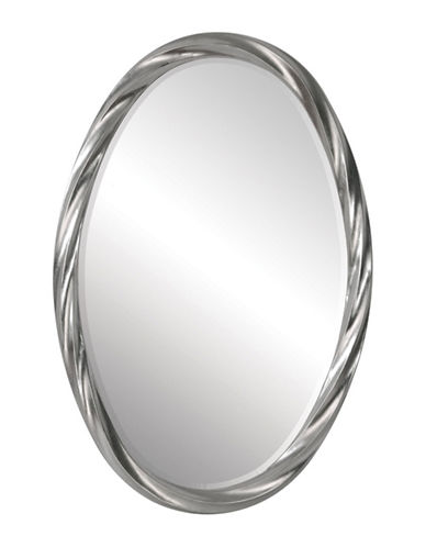 Ren-Wil Wiltshire Oval Mirror-SILVER LEAF-One Size