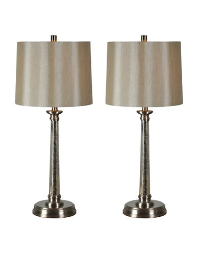 Ren-Wil Two-Piece Brooks Table Lamps Set-SATIN NICKEL-One Size