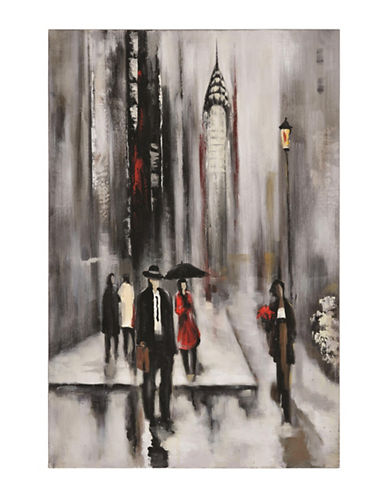 Ren-Wil Bustling City II Hand-Painted Art-MULTI-One Size