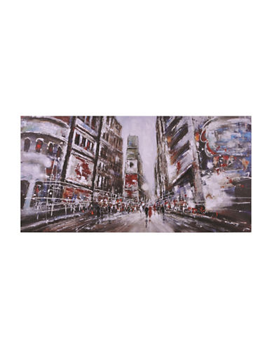 Ren-Wil Evening In Time Square Wall Art-RED MULTI-One Size