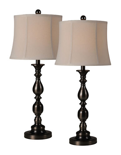 Ren-Wil Two-Piece Scala Lamp Set-OIL RUBBED BRONZE-One Size