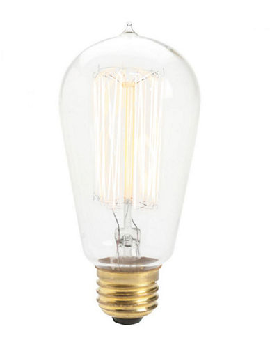 Ren-Wil Three-Pack Squirrel Cage 60W Clear Light Bulbs-CLEAR-One Size