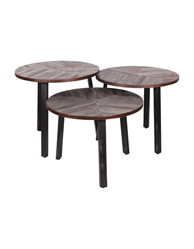 Ren-Wil Three Leaves Accent Tables Set of 3-WOOD-One Size