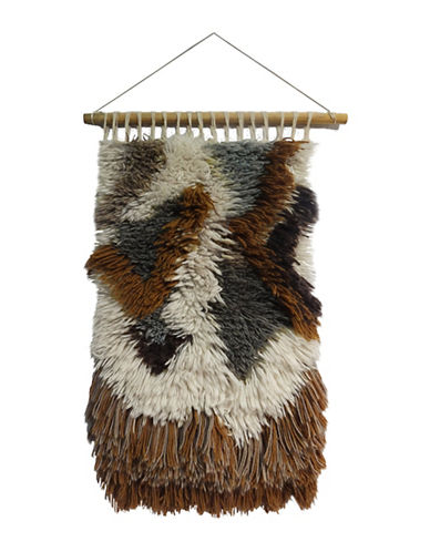 Ren-Wil Patch Faux Fur Carpet Wall Art-BROWN MULTI-One Size