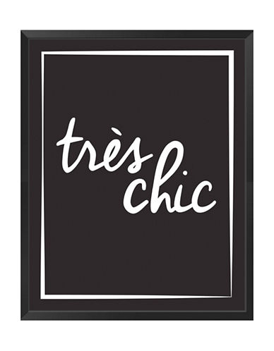 Ren-Wil Tres Chic Framed Typography-BLACK-One Size 88297769_BLACK_One Size