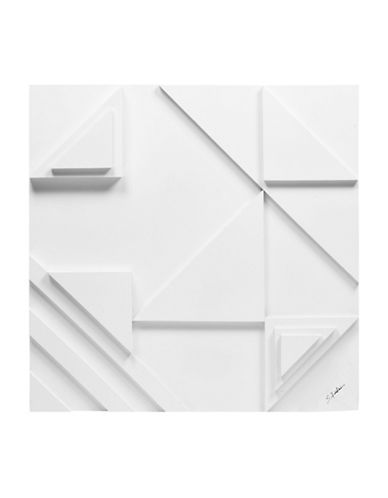 Ren-Wil Vector I Stacked Triangle Wall Art-WHITE-One Size