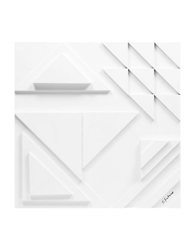 Ren-Wil Vector II Stacked Triangle Wall Art-WHITE-One Size
