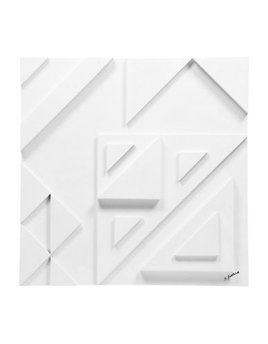Ren-Wil Vector III Stacked Triangle Wall Art-WHITE-One Size