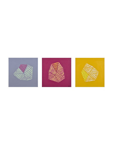 Ren-Wil Waterfort Three-Piece Abstract Canvas Set-MULTI-One Size