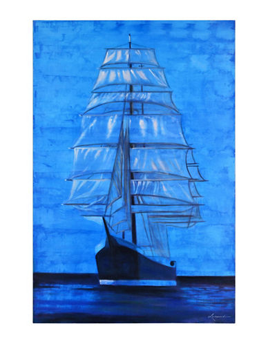 Ren-Wil Calypso Cutter Ship Canvas Wall Art-BLUE-One Size