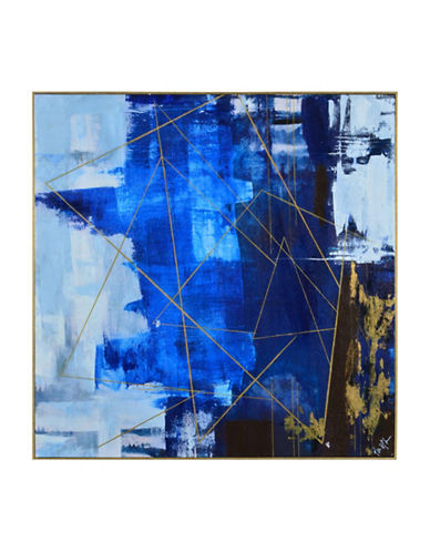 Ren-Wil Blue Dream Symmetry Canvas Wall Art-BLUE-One Size