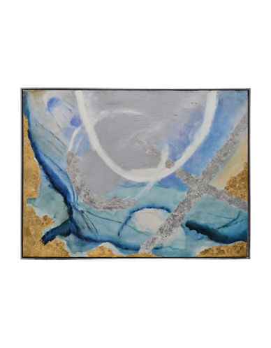Ren-Wil Tide Pool I Breezy Canvas Wall Art-BLUE/GOLD-One Size