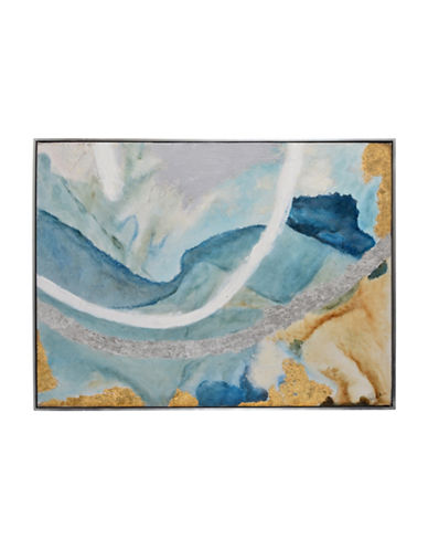 Ren-Wil Tide Pool II Breezy Canvas Wall Art-BLUE/GOLD-One Size