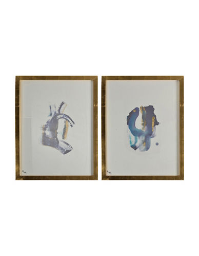 Ren-Wil Mira Two-Piece Drawn Wall Art Set-BLUE/GOLD-One Size