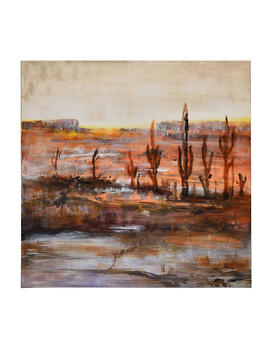 Ren-Wil Sierra Sunset Desert Canvas Wall Art-ORANGE MULTI-One Size