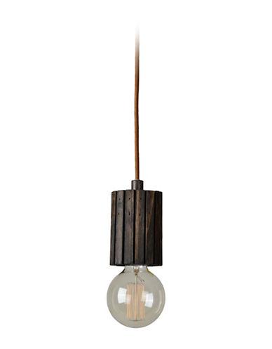 Ren-Wil Globe Wood Ceiling Pendant-DARK BROWN-One Size