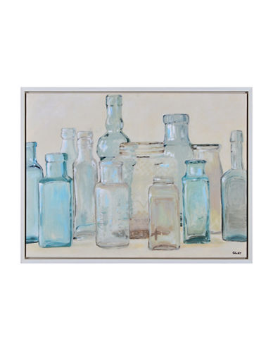 Ren-Wil Still Bottle Collection Canvas Wall Art-BLUE MULTI-One Size
