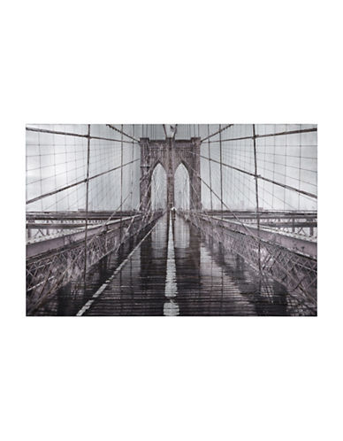 Ren-Wil Iconic Industrial Bridge Canvas Wall Art-GREY-One Size