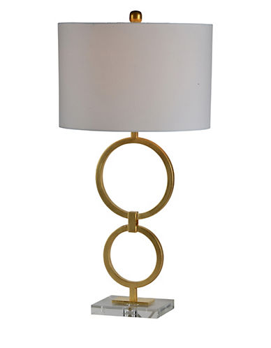 Ren-Wil Stack Table Lamp-GOLD-One Size