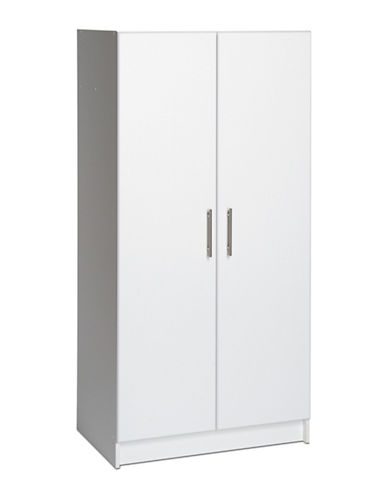 Prepac Elite Storage Cabinet-WHITE-One Size
