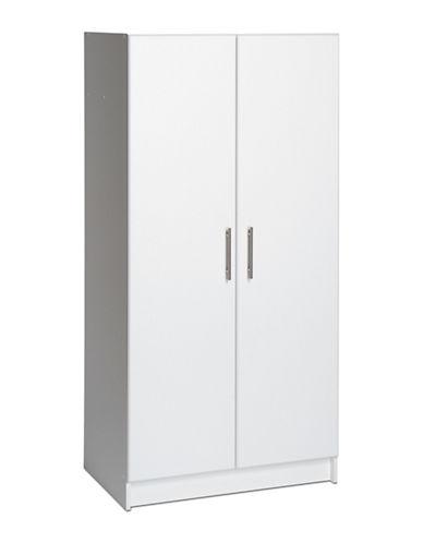 Prepac Elite Wardrobe Cabinet-WHITE-One Size