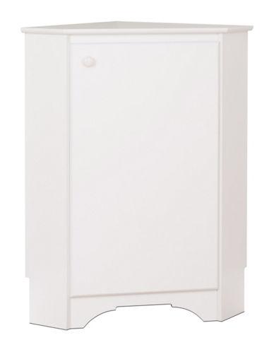Prepac Elite Corner Storage Cabinet-WHITE-One Size