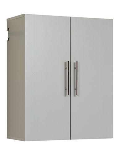 Prepac HangUps 24-Inch Upper Storage Cabinet-LIGHT GREY-One Size