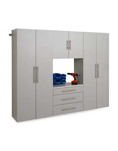 Prepac HangUps Four-Piece 90-Inch Storage Cabinet Set-LIGHT GREY-One Size