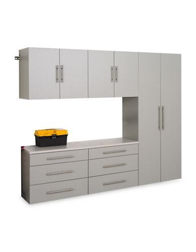 Prepac HangUps Five-Piece Storage Cabinet Set-LIGHT GREY-One Size