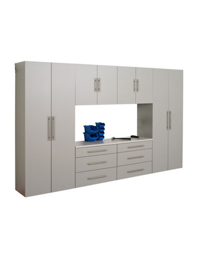 Prepac HangUps Six-Piece Storage Cabinet Set-LIGHT GREY-One Size